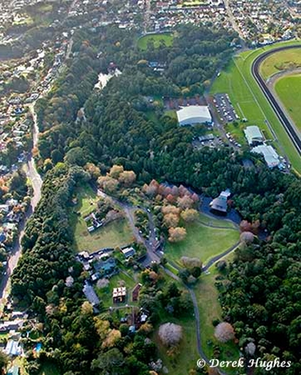Aerial view of Pukekura Park (photo Derek Hughes)