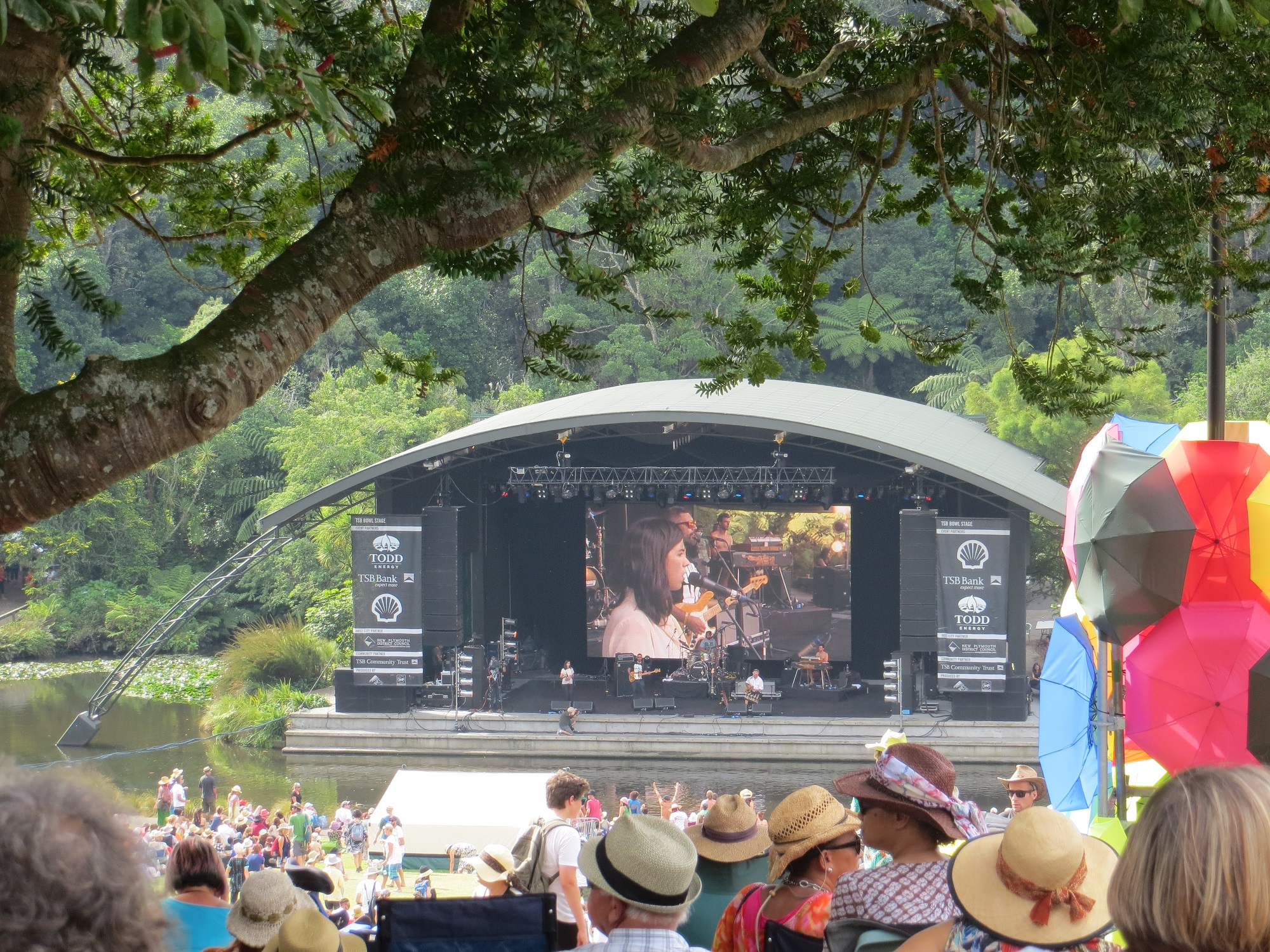 A view of the Bowl of Brooklands stage